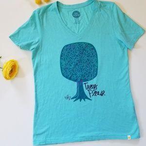 Life is good aqua tree tshirt